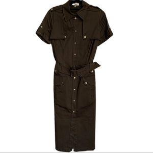 Karen Millen short sleeve utility pencil dress